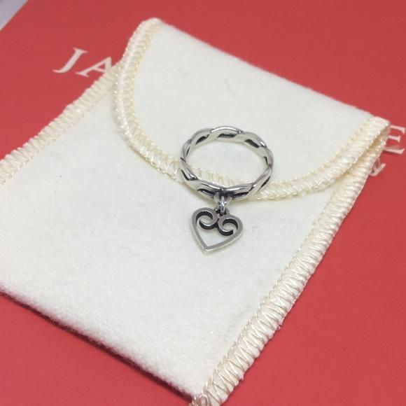 James Avery Jewelry Auth Sz6 Twisted Wire Heart Charm Ring Poshmark